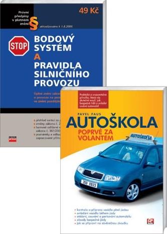Balíček Autoškola Poprvé za volantem + Bodový systém a pravidla silničního provo