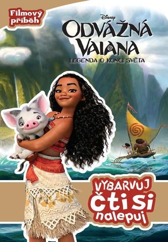 Odvážná Vaiana – Legenda o konci světa - Vybarvuj, čti si, nalepuj
