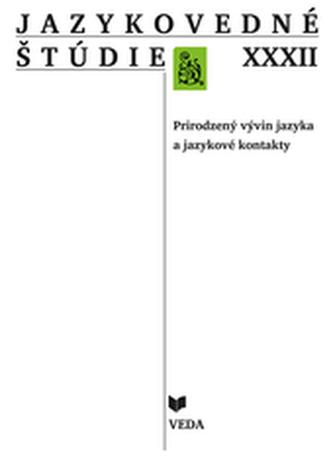 Jazykovedné štúdie XXXII
