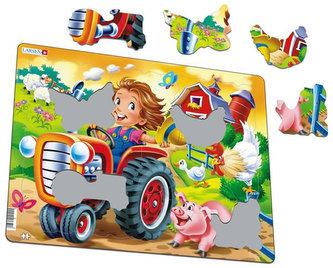 Puzzle MAXI - JEZDÍME na traktoru/15 dílků