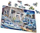 Puzzle MAXI - Policie - loupež v bance/42 dílků