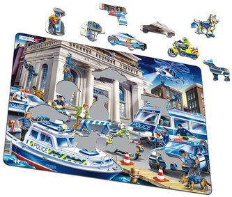 Puzzle MAXI - Policie - loupež v bance/43 dílků