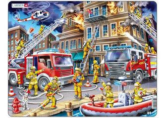 Puzzle MAXI - Hasiči - požár domu/45 dílků