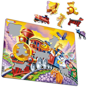 Puzzle MAXI - Cirkusový vlak/30 dílků