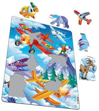 Puzzle MAXI - Letadla - planes/20 dílků
