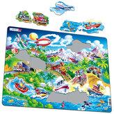 Puzzle MAXI - Auta,lodě,vlak a letadla/18 dílků
