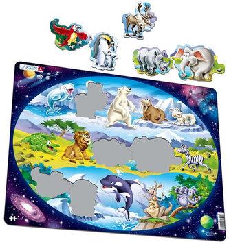Puzzle MAXI - Zvířátka ve světě/15 dílků - neuveden