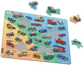 Puzzle MAXI - Historická auta - VETERÁNI/42 dílků