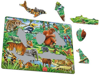 Puzzle MAXI - Džungle/20 dílků - neuveden