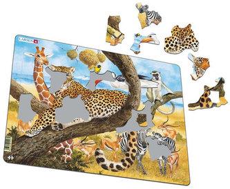 Puzzle MAXI - Zvířata v Africe/48 dílků - neuveden