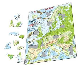 Puzzle MAXI - Mapa EVROPY geografická/87 dílků - neuveden