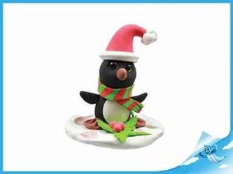 Paulinda Merry Christmas tučňák s doplňky v kelímku