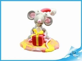 Paulinda Merry Christmas krysa s doplňky v kelímku