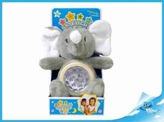 STARLIGHT PETS zvířátko plyšové-slon/lampička