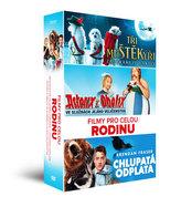 Filmy pro celou rodinu - DVD: Tři muŠŤĚKýři zachraňují Vánoce, Asterix a Obelix: Ve službách Jejího Veličenstva, Chlupatá odplata