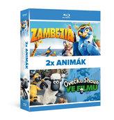 2x Blu-ray ANIMÁK: Ovečka Shaun ve filmu, Zambezia 3D