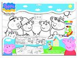 Velké plakátové omalovánky Prasátko Peppa + fixy