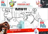 Velké plakátové omalovánky Mazlíci + fixy