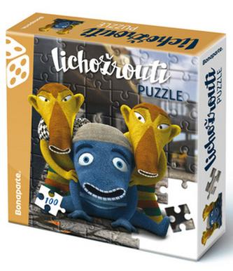 Puzzle vkrabici100 Lichožrouti Hihlík a kamarádi