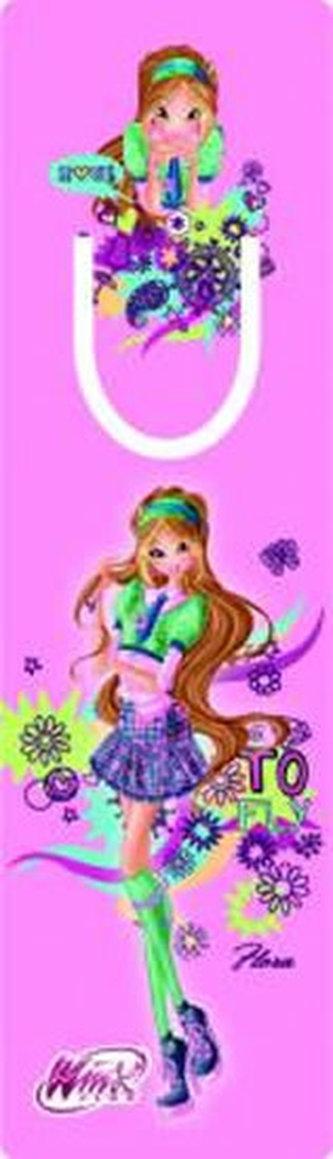 Winx club Flora - Záložka s průsekem - neuveden
