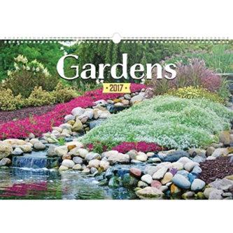 Kalendář nástěnný 2017 - Zahrady - prodloužená vterze