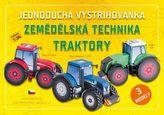 Jednoduchá vystřihovánka Zemědělská technika Traktory