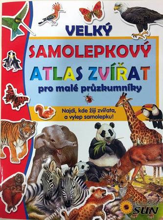 Velký samolepkový atlas zvířat pro malé průzkumníky - neuveden