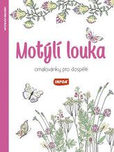 Motýlí louka - Omalovánky pro dospělé