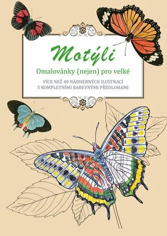 Motýli - omalovánky (nejen) pro velké - Peter Lindmark
