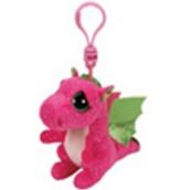 Plyš očka přívěšek růžový drak