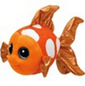 Plyš očka střední oranžová ryba