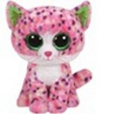 Plyš očka střední růžová kočka