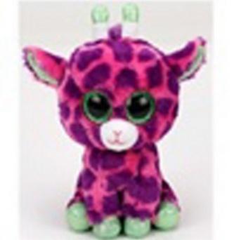 Plyš očka střední růžová žirafa
