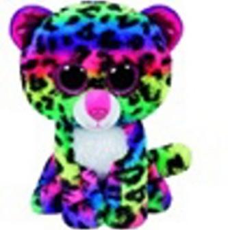 Plyš očka střední barevný gepard