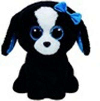 Plyš očka střední černo-bílý pes