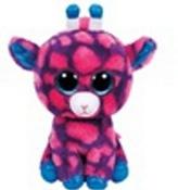 Plyš očka růžová žirafa