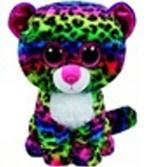 Plyš očka velká barevný leopard