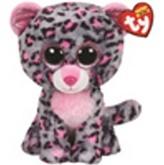 Plyš očka velká růžovo-šedý leopard
