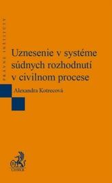 Uznesenie v systéme súdnych rozhodnutí v civilnom procese
