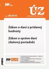 Úplne znenia zákonov 28-2016