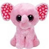 Plyš očka střední růžový slon