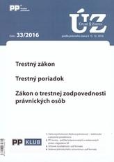 Úplne znenia zákonov 33-2016