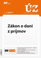 UZZ 1/2017 Zákon o dani z príjmov