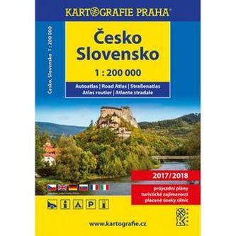 Česko Slovensko autoatlas 1:200 000