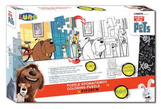 Vybarvovací puzzle - Tajný život mazlíčků - autor neuvedený