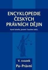 Encyklopedie českých právních dějin, V. svazek Pa-Právni