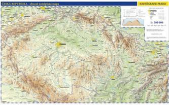 Česko nástěnná fyzická mapa