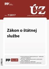 UZZ 7/2017 Zákon o štátnej službe
