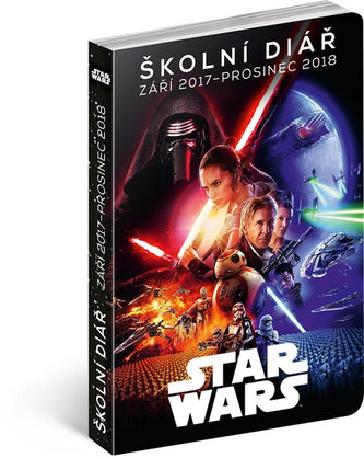 Školní diář Star Wars Classic - září 2017 – prosinec 2018, 9,8 × 14,5 cm - neuveden