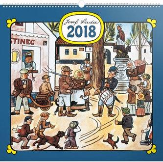 Kalendář nástěnný 2018 - J. Lada - Náves - neuveden